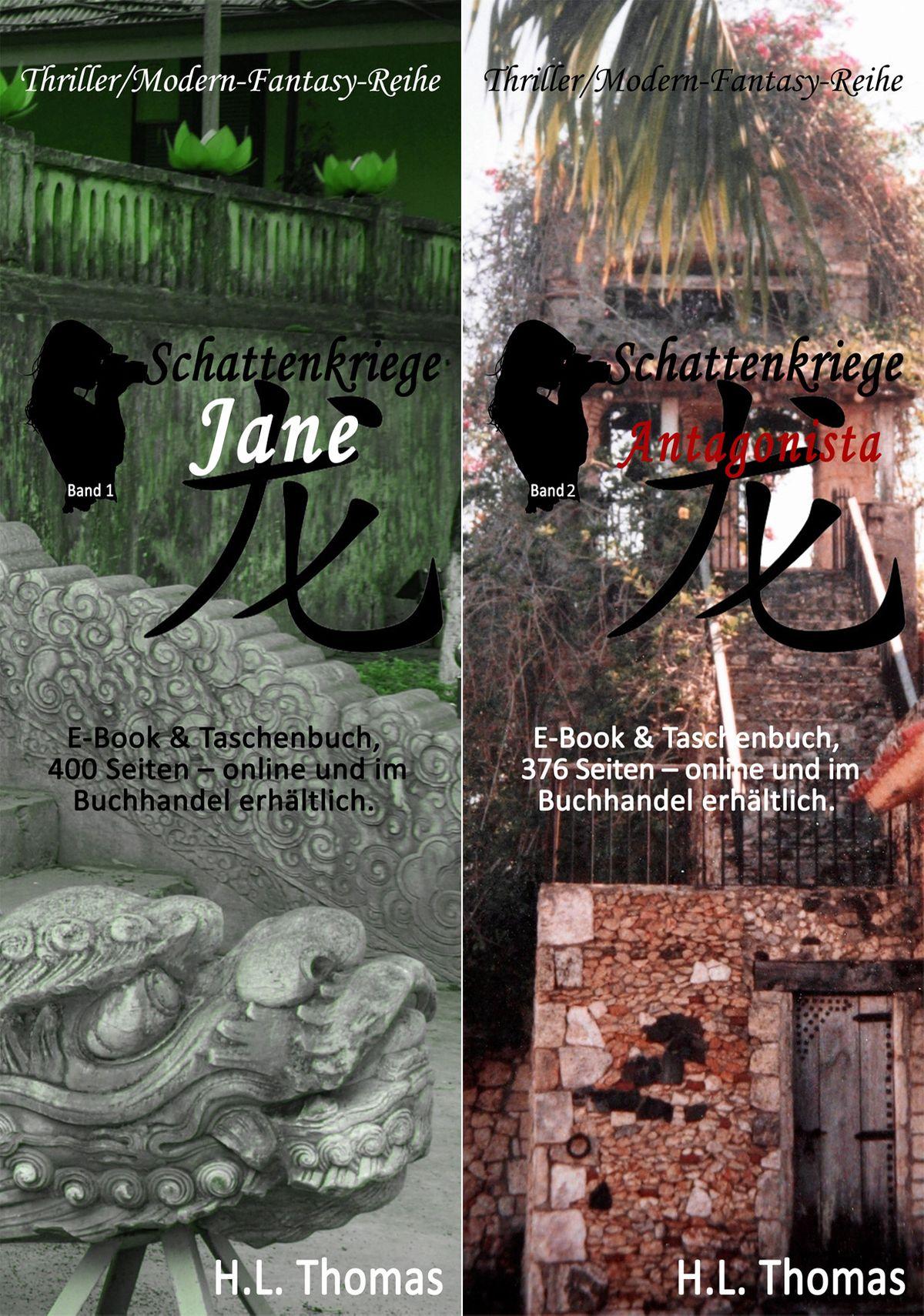 Lesezeichen, Buchwerbung, Thriller, Modern-Fantasy, Schattenkriege